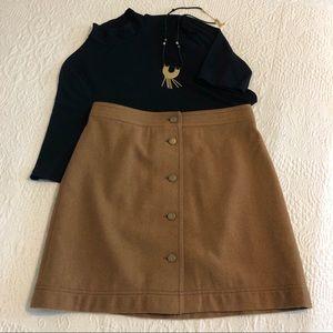 Madewell Button-Front Skirt • Perfect Fall Skirt